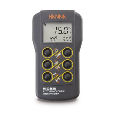 Thermomètre portatif à thermocouple type K, J, T