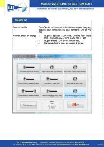 QM-SPLINE Tampons pour Dentelures - BLET