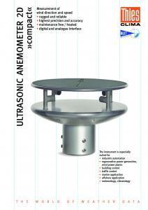 Anémomètre Ultrasonique 2D Compact THIES