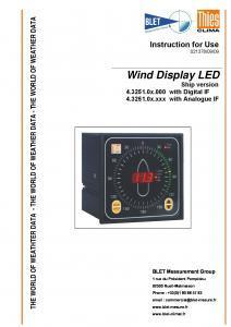 Afficheur direction et vitesse du vent modèle Bateau THIES