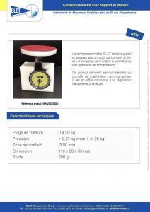 Compressiomètre avec support plateau & certificat - BLET