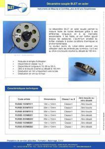 Décamètre souple en acier - BLET