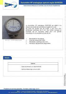 Duromètre HP spécial argile BAREISS