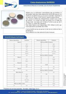 Cales élastomères accréditées pour duromètres