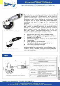 Micromètres numériques Steinmeyer