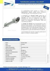 PYHH0-1TR1 Pyrhéliomètre réponse rapide BLET