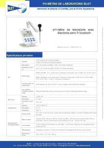 pH-mètre Bluetooth et électrode pH sans fil