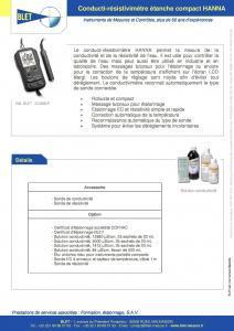 CONDUCTI-RESISTIVIMETRE ETANCHE COMPACT - H - BLET