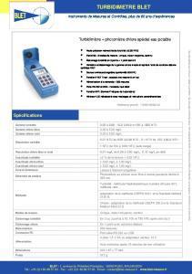 Photo-turbidimètre portatif pour eau potable