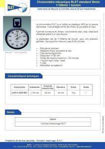 Chronomètre mécanique standard BLET