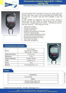 Chronomètre industriel digital 100e minut