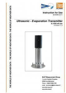INDICATEUR D´EVAPORATION US THIES - BLET