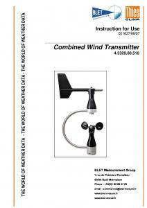 ANEMOMETRE GIROUETTE SMALL THIES - BLET
