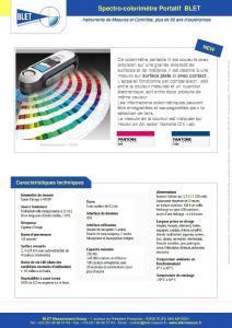 Colorimètre portable avec contact - BLET