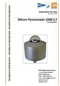 PYRANOMETRE GSM 3.3 THIES - BLET