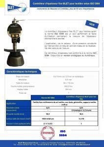 Contrôleur fixe TEXTILE ISO 5084