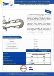 Contrôleur portable TEXTILES ISO 5084