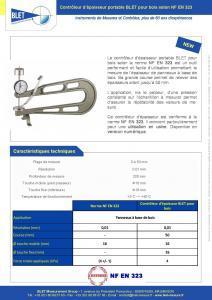 Contrôleur portable BOIS NF EN 323