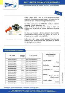 Mètre Ruban Industriel Acier Support S