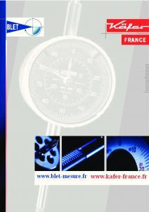 Comparateurs de mesure KAFER - Catalogue BLET