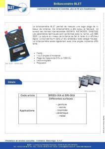 Brillancemètre - Mesure et contrôle BLET