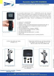 Duromètre digital HPE III Bareiss