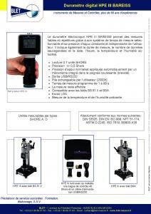 Duromètres électroniques HPE III