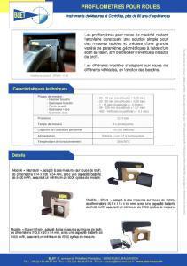 Profilomètre de roues - mesure ferroviaire