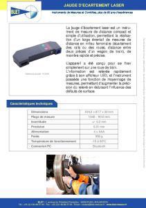 Jauge d'écartement laser - BLET
