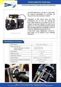 Profilomètre pour rails - BLET