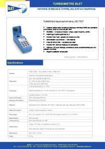 Turbidimètre conforme ISO 7027