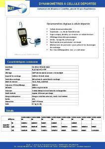 Dynamomètres digitaux à cellule déportée BLET