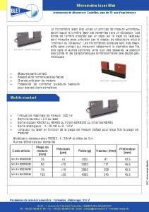 Micromètre Laser BLET