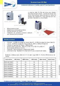 Scanner laser 2D BLET