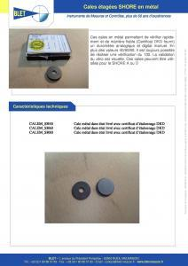 Cales de vérification métal étalonnées DKD