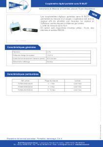 Couplemètre numérique portable sans fil BLET