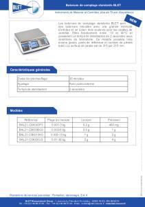 Balances de comptage standards BLET
