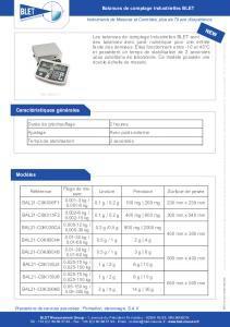 Balances de comptage industrielles BLET