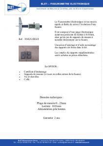 Fissuromètre électronique BLET