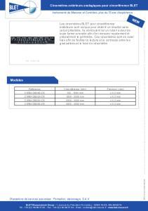 Circomètres mesure de circonférence extérieure BLET