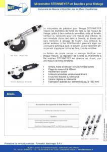 Micromètre pour Filetage STEINMEYER