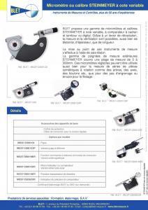 Micromètre extérieur avec comparateur à cadran
