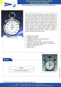 Chronomètres mécaniques BLET laiton chromé